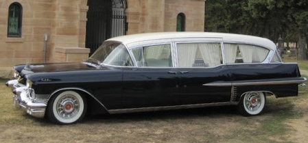 A 1957 Cadillac Hearse Street Rod