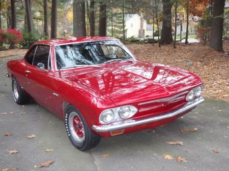 Our Hoodie Larry's 65 Corsa Turbo Corvair